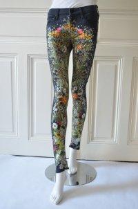 MOTHER Damen Jeans Mod.The Looker col.Wild Flowers Schwarz Bunt Print Gr.26