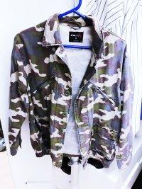 Oversize Camouflage Jacke Cardigan von New Yorker