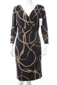 Ralph Lauren Kleid schwarz-goldfarben extravaganter Stil