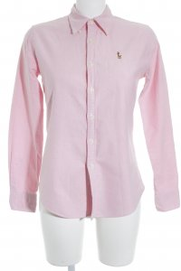 Ralph Lauren Langarm-Bluse rosa meliert Business-Look