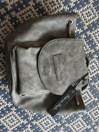 Rucksack Fritzi aus Preussen aus grauem Nubukleder