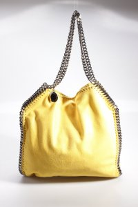 Stella McCartney Falabella Shaggy Deer Small Tote gelb