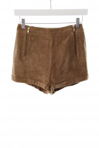 Topshop High-Waist-Shorts braun