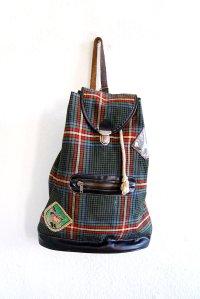 true vintage rucksack turnbeutel schottenmuster oldschool