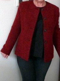 Vintage Wollblazer in kräftigem Rot