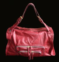 Damen Leder Henkeltasche made in ltaily