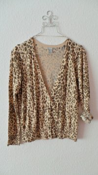 Leoparden Cardigan in braun / beige