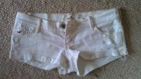 Weiße destroyed Hollister Shorts 1/W25