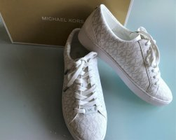 """ღღ Michael Kors Sneaker Gr.37/38 """"MK - Print"""" weiß/grau ☆☆ NEU ☆☆OVP ღღ"""