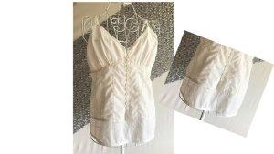 Zabaione Blouse Top white cotton