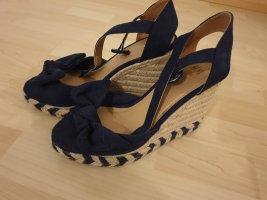 Woman Collection H&M Sandały japonki z rzemykami ciemnoniebieski
