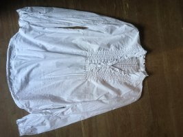 0039 Italy Blouse à volants blanc coton