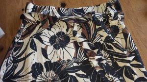 1.2.3. UN DEUX TROIS Paris Spódnica midi czarny-czarno-brązowy Bawełna