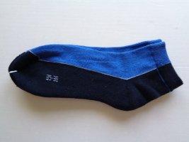 1 Paar Sneaker Socken Strümpfe  ----  Gr. 35 - 38   Baumwolle   -  blau schwarz NEU