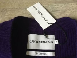 Calvin Klein Kaszmirowy sweter ciemny fiolet Kaszmir
