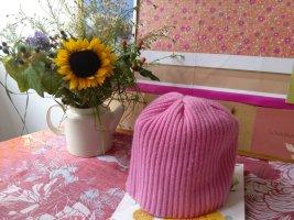 Amorph Chapeau en tricot rose fluo cachemire