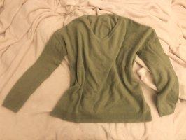 100% Kaschmir Pullover grün Luxus Linie cashmere pur