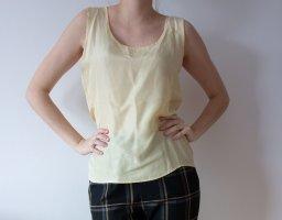 Silk Top pale yellow silk