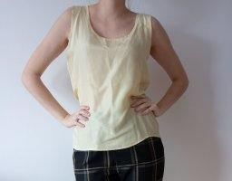 Silk Top pale yellow silk