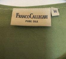 Franco Callegari Top in seta verde chiaro-verde