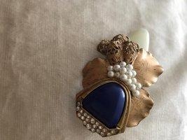American Vintage Hair Clip gold-colored-dark blue