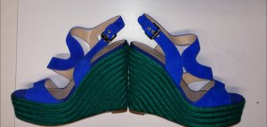 Brian Atwood Sandalias con plataforma verde-azul Cuero