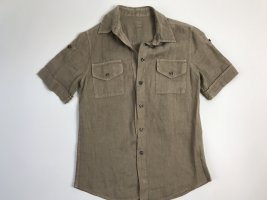 120% Lino Short Sleeve Shirt beige