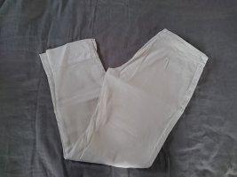 120% Lino 7/8 Length Trousers white linen