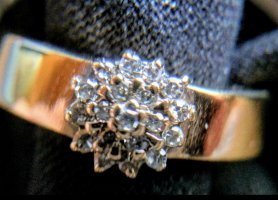 14 Karat Gold Złoty pierścionek biały-złoto
