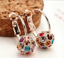 Gold Earring rose-gold-coloured