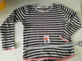 158-164 XS Pulli Tom Tailor schwarz weiß rosa gestreift
