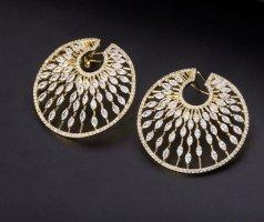 18 K Gold plattiert Zirkonia