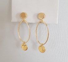 Hand made Boucles d'oreille en or doré
