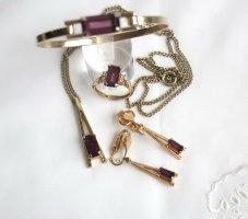American Vintage Sztywna bransoletka złoto-ciemny fiolet