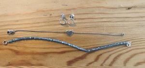 2 Armbänder und Ohrstecker 925 Sterlingsilber