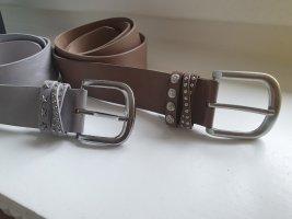 Boucle de ceinture gris clair-gris brun