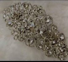 Boutique Mode Hair Clip black-silver-colored