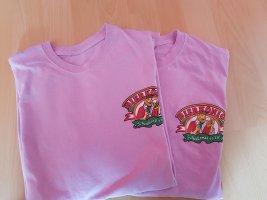 Jersey twin set roze Katoen