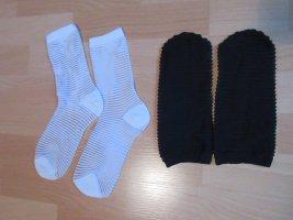 COS Legwarmers black-white mixture fibre