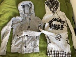 Adidas Jersey con capucha gris claro-crema