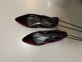 Bagatt Sandales à talons hauts et lanière noir-bordeau