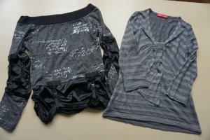 Apriori T-shirt noir-argenté tissu mixte