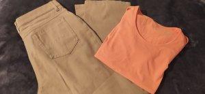 Dibari Stretch Trousers orange-camel