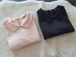 Zara Basic Top black-rose-gold-coloured