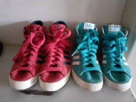 2 x Adidas Basket Profi Gr. 37/38 Rot/rosa sind neu
