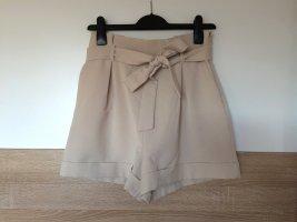 Asos Pantalón corto de talle alto multicolor tejido mezclado