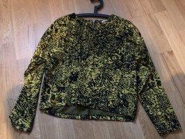 24colours Pullover Pulli schwarz gelb 36