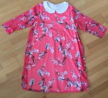 2Hearts Umstandskleid Schwangeren Maternity Kleid mit Bubikragen Blümchen Tunika Sommer