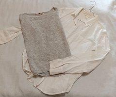 H&M Maglione twin set argento