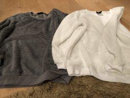 Oversized Sweater white-grey